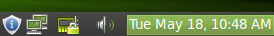 The task bar on Mint 9